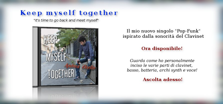 NUOVO SINGOLO! Keep myself together!